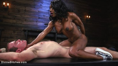 Photo number 12 from Ebony Dominatrix Kelli Provocateur Punishes Sub Man and Fucks His Ass!  shot for Divine Bitches on Kink.com. Featuring Kelli Provocateur and Jonah Marx in hardcore BDSM & Fetish porn.