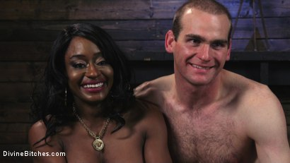 Photo number 16 from Ebony Dominatrix Kelli Provocateur Punishes Sub Man and Fucks His Ass!  shot for Divine Bitches on Kink.com. Featuring Kelli Provocateur and Jonah Marx in hardcore BDSM & Fetish porn.