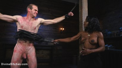 Photo number 5 from Ebony Dominatrix Kelli Provocateur Punishes Sub Man and Fucks His Ass!  shot for Divine Bitches on Kink.com. Featuring Kelli Provocateur and Jonah Marx in hardcore BDSM & Fetish porn.