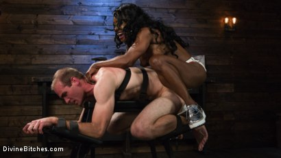Photo number 9 from Ebony Dominatrix Kelli Provocateur Punishes Sub Man and Fucks His Ass!  shot for Divine Bitches on Kink.com. Featuring Kelli Provocateur and Jonah Marx in hardcore BDSM & Fetish porn.