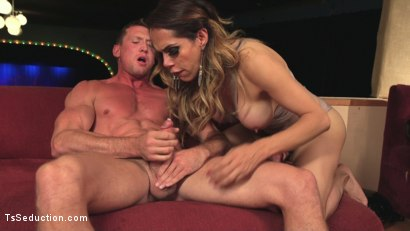 Photo number 12 from Stunning TS Goddess Sofia Sanders Fucks and Fists a Hung Muscled Stud!!  shot for TS Seduction on Kink.com. Featuring Sofia Sanders and Pierce Paris in hardcore BDSM & Fetish porn.