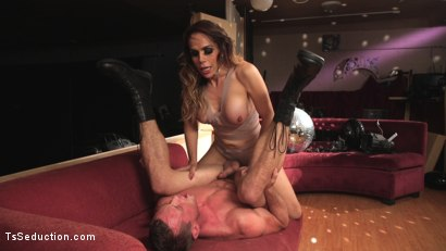 Photo number 3 from Stunning TS Goddess Sofia Sanders Fucks and Fists a Hung Muscled Stud!!  shot for TS Seduction on Kink.com. Featuring Sofia Sanders and Pierce Paris in hardcore BDSM & Fetish porn.