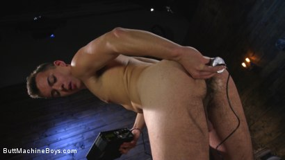 Photo number 4 from Anal Slave Shocks and Machine Fucks His Greedy Hole  shot for Butt Machine Boys on Kink.com. Featuring David Emblem in hardcore BDSM & Fetish porn.