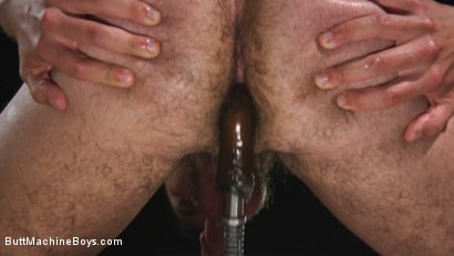 Photo number 12 from Anal Slave Shocks and Machine Fucks His Greedy Hole  shot for Butt Machine Boys on Kink.com. Featuring David Emblem in hardcore BDSM & Fetish porn.