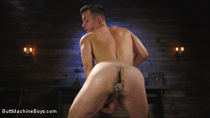 Photo number 3 from Anal Slave Shocks and Machine Fucks His Greedy Hole  shot for Butt Machine Boys on Kink.com. Featuring David Emblem in hardcore BDSM & Fetish porn.