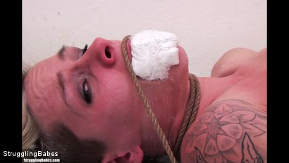Photo number 11 from Angela Bound Mouthstuffed, And Tapegagged shot for Struggling Babes on Kink.com. Featuring Ronnie and Angela Bound in hardcore BDSM & Fetish porn.