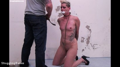 Photo number 4 from Angela Bound Mouthstuffed, And Tapegagged shot for Struggling Babes on Kink.com. Featuring Ronnie and Angela Bound in hardcore BDSM & Fetish porn.