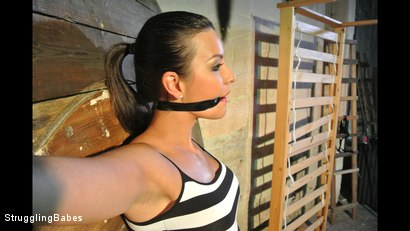 Photo number 6 from Katie Oliver Bound Spreadeagle shot for Struggling Babes on Kink.com. Featuring Katie Oliver and Richy in hardcore BDSM & Fetish porn.
