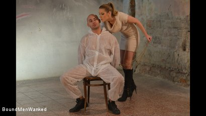 Photo number 2 from Anouk Humiliates And Wanks Muscular Guy shot for Bound Men Wanked on Kink.com. Featuring Anouk and Need in hardcore BDSM & Fetish porn.