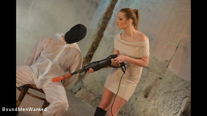 Photo number 5 from Anouk Humiliates And Wanks Muscular Guy shot for Bound Men Wanked on Kink.com. Featuring Anouk and Need in hardcore BDSM & Fetish porn.