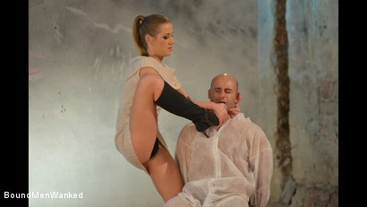 Photo number 7 from Anouk Humiliates And Wanks Muscular Guy shot for Bound Men Wanked on Kink.com. Featuring Anouk and Need in hardcore BDSM & Fetish porn.