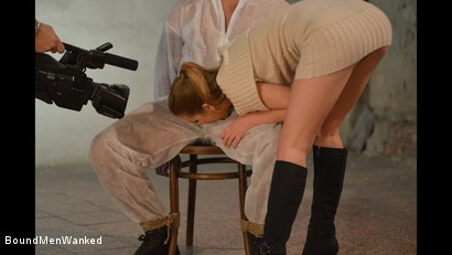 Photo number 9 from Anouk Humiliates And Wanks Muscular Guy shot for Bound Men Wanked on Kink.com. Featuring Anouk and Need in hardcore BDSM & Fetish porn.
