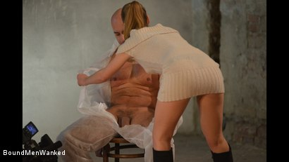 Photo number 10 from Anouk Humiliates And Wanks Muscular Guy shot for Bound Men Wanked on Kink.com. Featuring Anouk and Need in hardcore BDSM & Fetish porn.