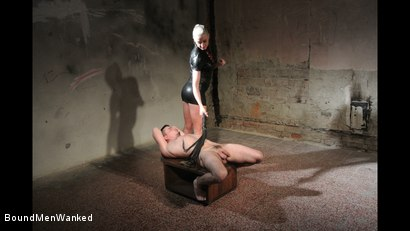 Photo number 4 from Victoria's Controlled Orgasm shot for Bound Men Wanked on Kink.com. Featuring Richy and Victoria Redd in hardcore BDSM & Fetish porn.