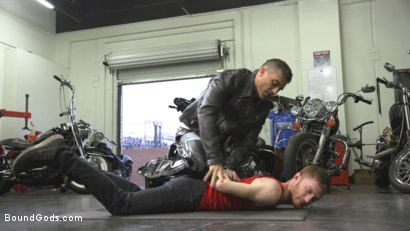 Photo number 1 from Hot biker stud captures a hung ginger and mercilessly fucks his hole shot for Bound Gods on Kink.com. Featuring Lance Hart and Seamus O'Reilly in hardcore BDSM & Fetish porn.