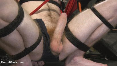 Photo number 2 from Hot biker stud captures a hung ginger and mercilessly fucks his hole shot for Bound Gods on Kink.com. Featuring Lance Hart and Seamus O'Reilly in hardcore BDSM & Fetish porn.