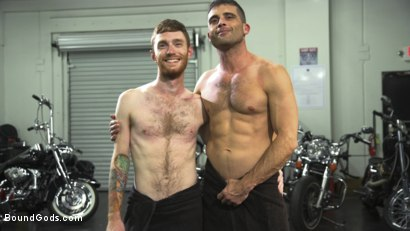 Photo number 15 from Hot biker stud captures a hung ginger and mercilessly fucks his hole shot for Bound Gods on Kink.com. Featuring Lance Hart and Seamus O'Reilly in hardcore BDSM & Fetish porn.