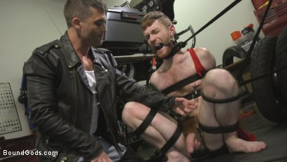 Photo number 6 from Hot biker stud captures a hung ginger and mercilessly fucks his hole shot for Bound Gods on Kink.com. Featuring Lance Hart and Seamus O'Reilly in hardcore BDSM & Fetish porn.