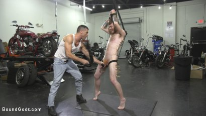 Photo number 9 from Hot biker stud captures a hung ginger and mercilessly fucks his hole shot for Bound Gods on Kink.com. Featuring Lance Hart and Seamus O'Reilly in hardcore BDSM & Fetish porn.