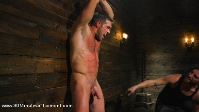 Photo number 1 from Muscled God Endures Extreme Torment shot for 30 Minutes of Torment on Kink.com. Featuring Alex Mecum in hardcore BDSM & Fetish porn.