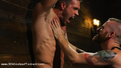 Photo number 3 from Muscled God Endures Extreme Torment shot for 30 Minutes of Torment on Kink.com. Featuring Alex Mecum in hardcore BDSM & Fetish porn.