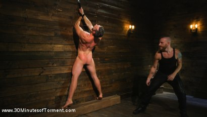 Photo number 6 from Muscled God Endures Extreme Torment shot for 30 Minutes of Torment on Kink.com. Featuring Alex Mecum in hardcore BDSM & Fetish porn.