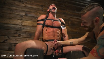 Photo number 2 from Muscled God Endures Extreme Torment shot for 30 Minutes of Torment on Kink.com. Featuring Alex Mecum in hardcore BDSM & Fetish porn.