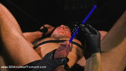 Photo number 9 from Muscled God Endures Extreme Torment shot for 30 Minutes of Torment on Kink.com. Featuring Alex Mecum in hardcore BDSM & Fetish porn.