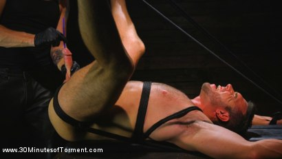 Photo number 10 from Muscled God Endures Extreme Torment shot for 30 Minutes of Torment on Kink.com. Featuring Alex Mecum in hardcore BDSM & Fetish porn.