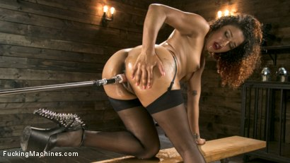 Photo number 9 from Ebony Squirt Queen Daisy Ducati Gets Royal Fucking Machines Treatment! shot for Fucking Machines on Kink.com. Featuring Daisy Ducati in hardcore BDSM & Fetish porn.