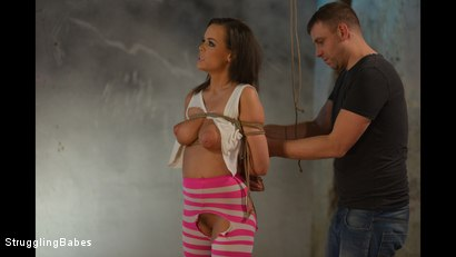 Photo number 8 from Linet Stripped, Whipped, Vibed, and Machinefucked shot for Struggling Babes on Kink.com. Featuring Ar and Linet Slag in hardcore BDSM & Fetish porn.