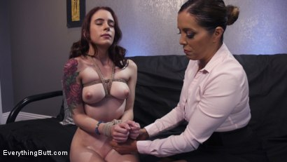 Photo number 2 from Anal Bondage to Cure Claustrophobia shot for Everything Butt on Kink.com. Featuring Anna De Ville and Francesca Le in hardcore BDSM & Fetish porn.