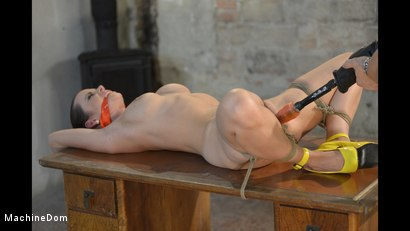 Photo number 15 from Cindy Bound, Gagged, and Machine-Fucked shot for Machine Dom on Kink.com. Featuring Cindy Dollar and Ar in hardcore BDSM & Fetish porn.