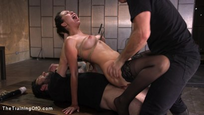 Photo number 10 from Training a Pain Slut: Busty Melissa Moore's First Submission shot for The Training Of O on Kink.com. Featuring Tommy Pistol and Melissa Moore in hardcore BDSM & Fetish porn.
