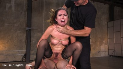 Photo number 13 from Training a Pain Slut: Busty Melissa Moore's First Submission shot for The Training Of O on Kink.com. Featuring Tommy Pistol and Melissa Moore in hardcore BDSM & Fetish porn.