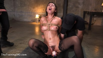 Photo number 7 from Training a Pain Slut: Busty Melissa Moore's First Submission shot for The Training Of O on Kink.com. Featuring Tommy Pistol and Melissa Moore in hardcore BDSM & Fetish porn.