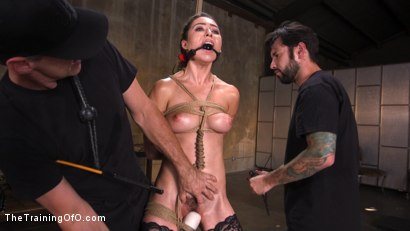 Photo number 2 from Training a Pain Slut: Busty Melissa Moore's First Submission shot for The Training Of O on Kink.com. Featuring Tommy Pistol and Melissa Moore in hardcore BDSM & Fetish porn.