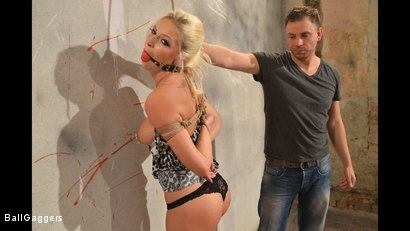 Photo number 14 from Hot Blonde Karol Tied Up shot for Ball Gaggers on Kink.com. Featuring Karol Lilien and Ar in hardcore BDSM & Fetish porn.