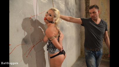 Photo number 15 from Hot Blonde Karol Tied Up shot for Ball Gaggers on Kink.com. Featuring Karol Lilien and Ar in hardcore BDSM & Fetish porn.