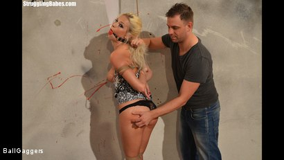 Photo number 3 from Hot Blonde Karol Tied Up shot for Ball Gaggers on Kink.com. Featuring Karol Lilien and Ar in hardcore BDSM & Fetish porn.