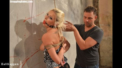 Photo number 5 from Hot Blonde Karol Tied Up shot for Ball Gaggers on Kink.com. Featuring Karol Lilien and Ar in hardcore BDSM & Fetish porn.