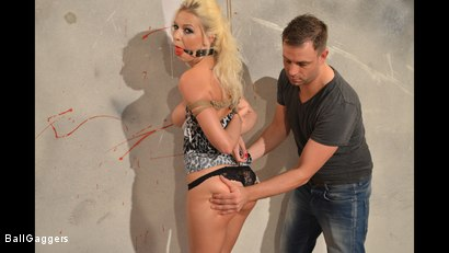 Photo number 8 from Hot Blonde Karol Tied Up shot for Ball Gaggers on Kink.com. Featuring Karol Lilien and Ar in hardcore BDSM & Fetish porn.
