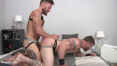 Photo number 8 from Tex's Raw Vacation: Derek Parker, Hoytt Walker shot for Nasty Daddy on Kink.com. Featuring Derek Parker and Hoytt Walker in hardcore BDSM & Fetish porn.