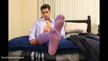 Photo number 3 from Thigh High: JJ Knight, Armond Rizzo shot for Gentlemens Closet on Kink.com. Featuring JJ Knight and Armond Rizzo in hardcore BDSM & Fetish porn.
