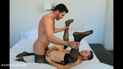 Photo number 12 from Silhouette: Billy Santoro, Hans Berlin shot for Gentlemens Closet on Kink.com. Featuring Billy Santoro and Hans Berlin in hardcore BDSM & Fetish porn.