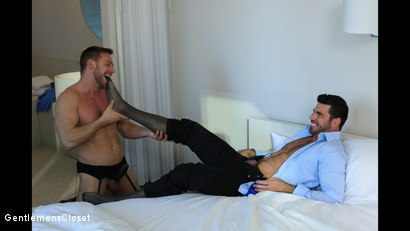 Photo number 3 from Silhouette: Billy Santoro, Hans Berlin shot for Gentlemens Closet on Kink.com. Featuring Billy Santoro and Hans Berlin in hardcore BDSM & Fetish porn.