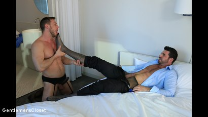 Photo number 4 from Silhouette: Billy Santoro, Hans Berlin shot for Gentlemens Closet on Kink.com. Featuring Billy Santoro and Hans Berlin in hardcore BDSM & Fetish porn.