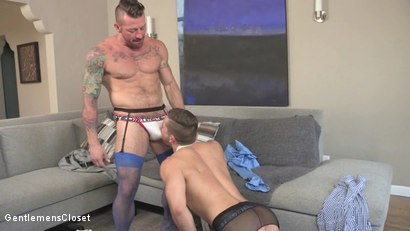 Photo number 8 from Behind Closed Doors: Kyle Kash, Hugh Hunter shot for Gentlemens Closet on Kink.com. Featuring Hugh Hunter and Kyle Kash in hardcore BDSM & Fetish porn.
