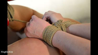 Photo number 15 from Blanche Hogtied Hard, Rope-Grabbed, and Tit-Grabbed shot for Hogtied Up on Kink.com. Featuring Ar and Blanche Bradburry in hardcore BDSM & Fetish porn.