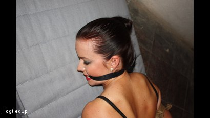 Photo number 6 from Cindy Hogtied, Cleave-Gagged, And Stripped shot for Hogtied Up on Kink.com. Featuring Cindy Dollar and Ar in hardcore BDSM & Fetish porn.